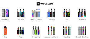 Vaporesso Vaping Product Lines
